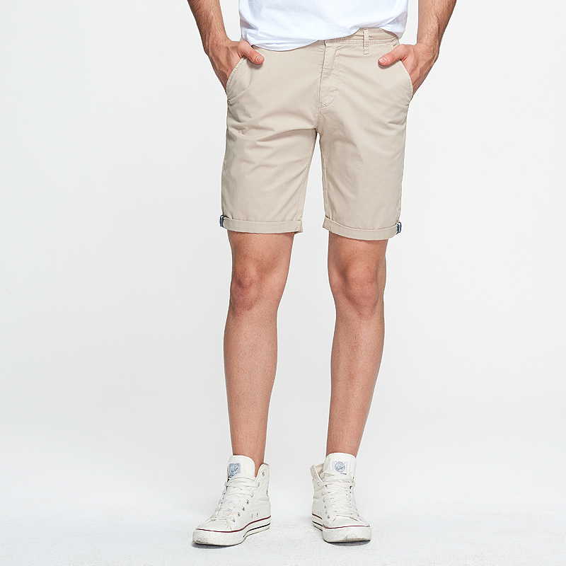 Buy HTLB 2019 Summer New Denim Cotton Casual Shorts Slim Fit Dark Washed Knee Length Light Blue High Quality Brand Clothing Shorts for only 33.98 USD