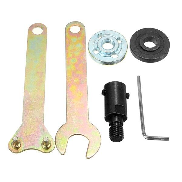 De calidad superior 5mm vástago M10 Arbor mandril adaptador de herramienta de corte de accesorios para amoladora de ángulo