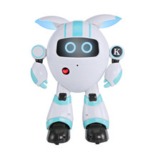 Modiker Smart Programmable Walking Robot RC Electronic Dancing Singing Story Telling Robot Toy for Children High Tech Toys- Blue(China)