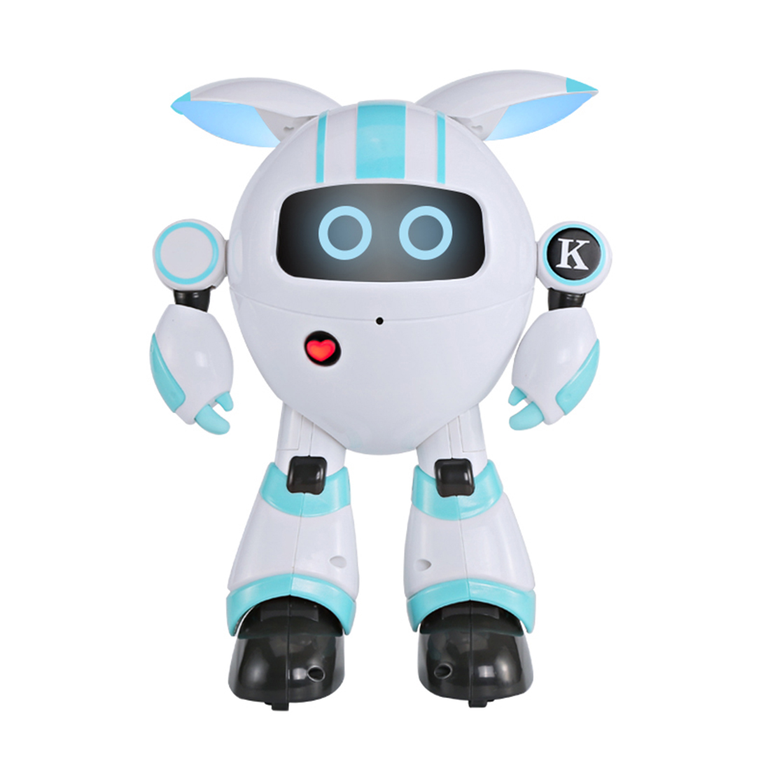 Modiker Smart Programmable Walking Robot RC Electronic Dancing Singing Story Telling Robot Toy for Children High Tech Toys Blue