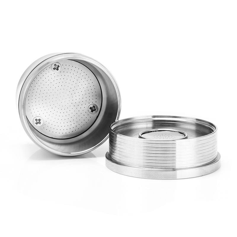 1 Set Reusable Coffee Filter Cafe Capsules Cup Refillable Tamper Coffee Machine Stainless Steel Coffee Baskets