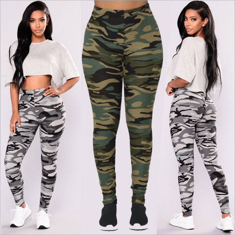 Hirigin 2019 New Arrival Womens Jogger Pants Workout Elastic High Waist Military Style Seamless Leggings For Women Long Pants