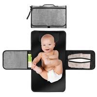 Портативная пеленальная станция для новорожденных младенцев-легкий дорожный домашний подгузник с карманами-Водонепроницаемый & Fol
