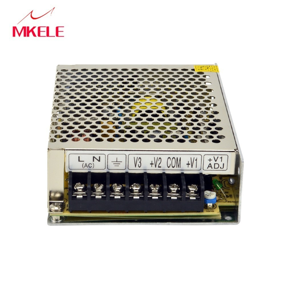 Switching Power Net-50d 50W AC To DC 5V 24V 12V Supply Output Triple Enclosed 3A 1A