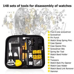 Image 3 - Kit de herramientas de reparación de relojes, eliminador de pasadores de enlace, unids/set, herramientas para relojes, reparación de reloj, Kit de herramientas, bolsa, gereedschap horloge, 148