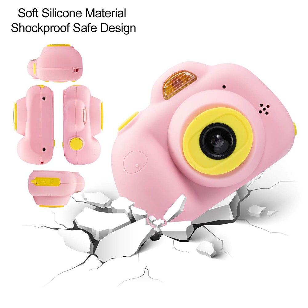 Enfants jouets caméra enfants caméras compactes enfants Selfie Mini dessin animé photographie Image Portable Support TF carte 1080 p Photo - 2