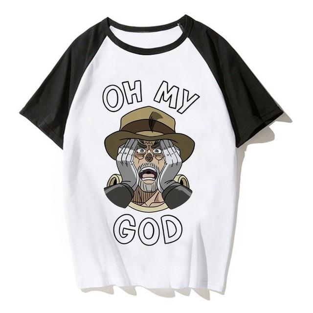 Jojos Bizarre Adventure T Shirt Anime Tshirt Joseph Joestar Japanes Anime Shirt  T-shirts Men Cool Tee Shirt Funny Tshirt 4