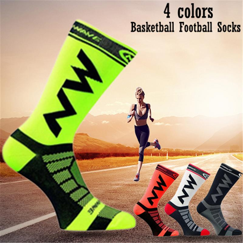 Breathable Non-Slip Cycling Socks MTB Bike Bicycle UV Protection Run Jogging Quick Drying Nylon Sports Basketball Football Sock
