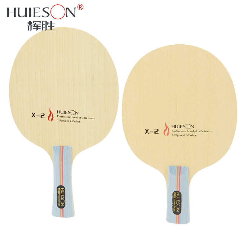Huieson 7 Ply Hybrid Carbon Table Tennis Racket Blade with Big Central Ayous Wood for Fast Attack Loop killing Training X2