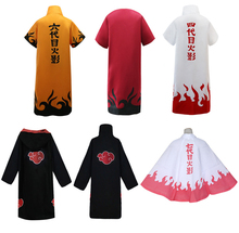 Anime Naruto Cosplay Costume Adult Akatsuki Cloak Cape Halloween For Carnival Performance Party Clothing