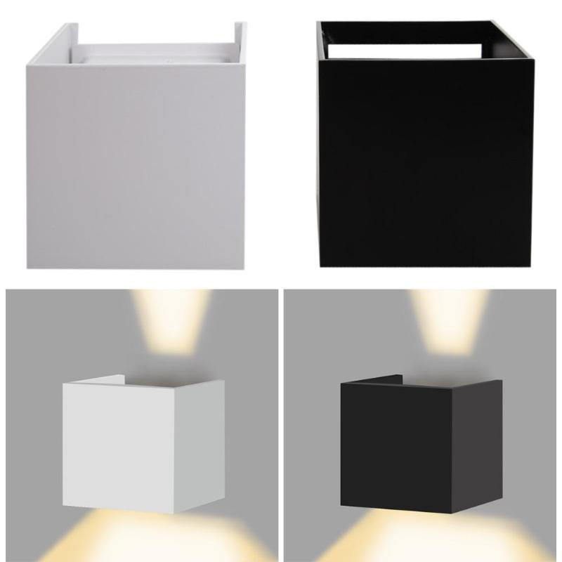 Led Indoor Wall Lamps 100% Quality Waterproof Led Ip67 Surface Wall Mounted Indoor/outdoor Cube White/black Up And Down Wall Corridor Garden Decoration Light Fuli Careful Calculation And Strict Budgeting
