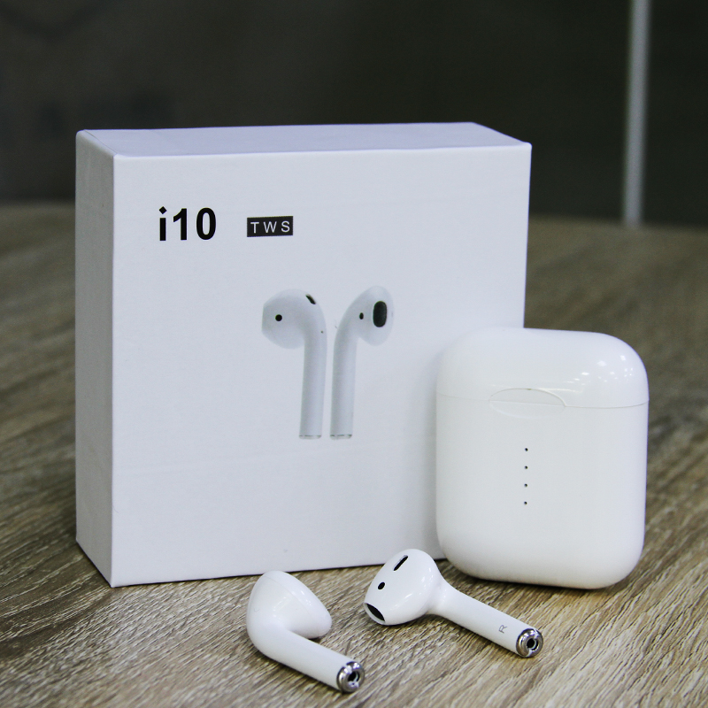 Nouvelle Mise À Jour i10 TWS Air gousses Double Mini 1:1 Version Sans Fil Bluetooth 5.0 Écouteurs Tactile Contrôle Casque Pour Apple Android