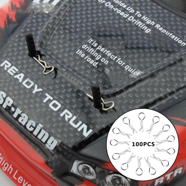 100PCS Stainless Body Shell Clip Pin For HSP RC 1/16 Car Buggy Truck HSP Traxxas Vehicles
