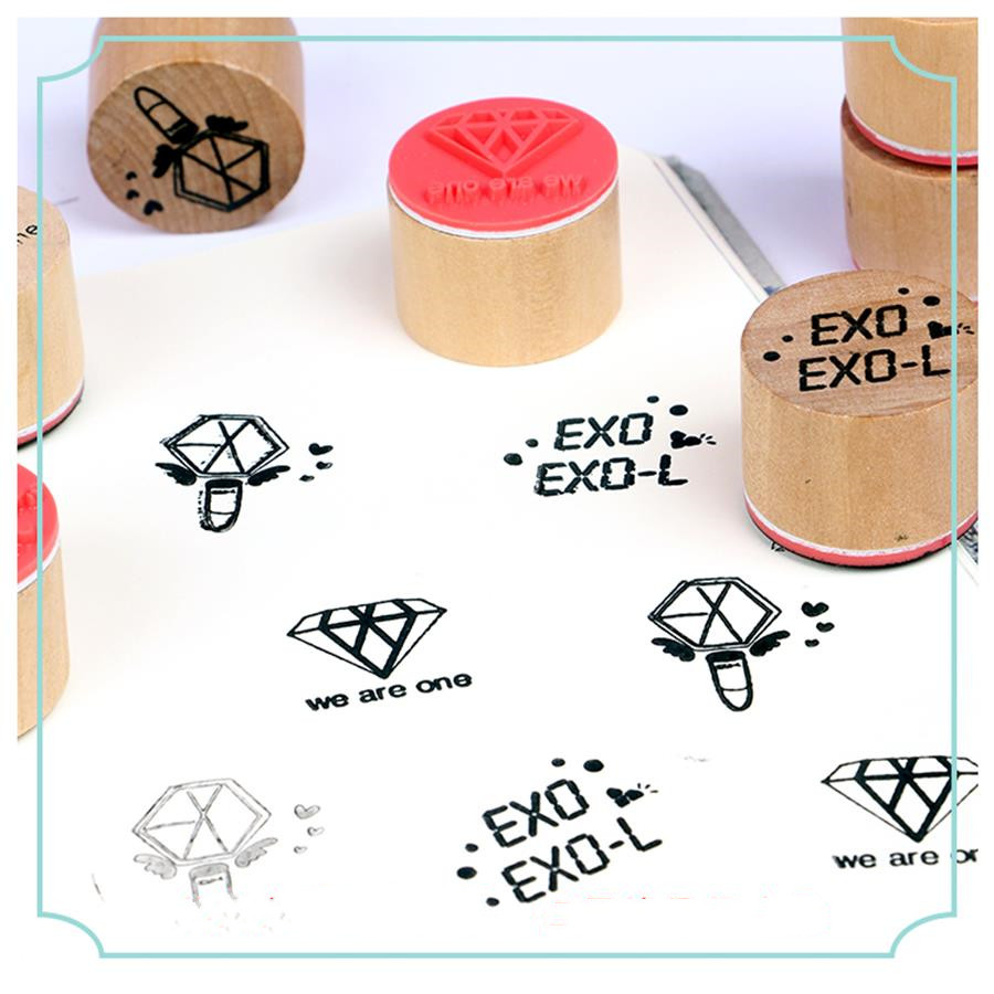 Beads & Jewelry Making Jewelry Findings & Components Kpop Exo Cute Wax Seal Stamp Chanyeol Sehun Baekhyun Wood Badge Scrapbook Diy Convenience Goods