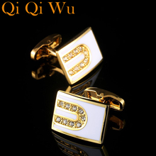 Luxury 2017 New Shirt Cufflinks for Mens Brand Cuff Buttons Cuff links Gold Gemelos High Quality Men's Cuffs Abotoaduras Jewelry high quality movement tourbillon cuff links designer cufflinks stylish steampunk gear watch cuffs shirt sleeve buttons men