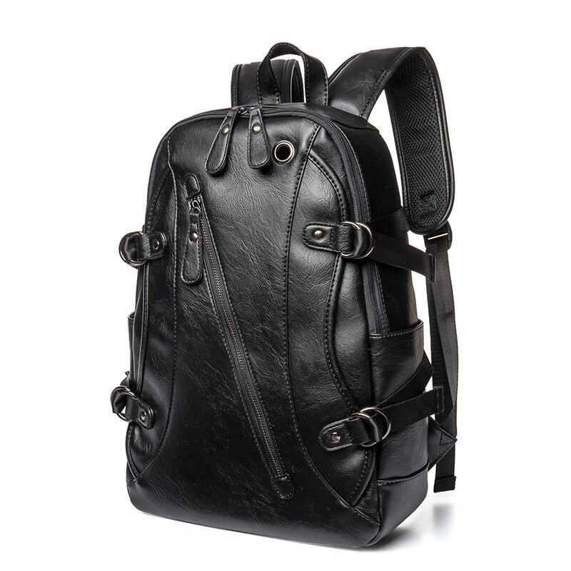 Sacs à dos hommes ordinateur portable sacs à bandoulière Mochilas Para pochette ipad cuir PU hommes sac à dos livre sac Designer sac de voyage homme