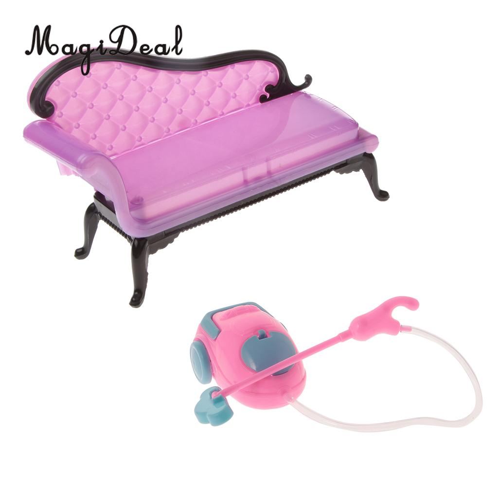 Sofa Set Action Us 3 22 Off 1 6 Scale Sofa Chair Cleaner Simulation Appliances Furniture Set For Dollhouse Living Room Action Figures Acc Kids Children Toys In