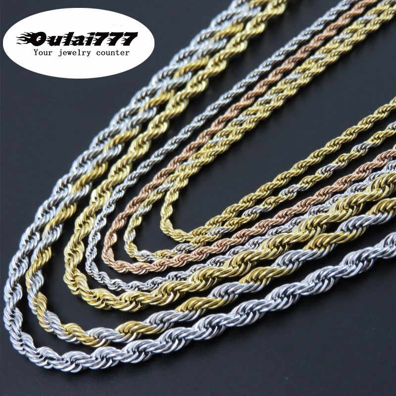oulai777 chain male necklace stainless steel woman mens accessoires fashion necklaces 2019 long necklaces jewelry on the neck
