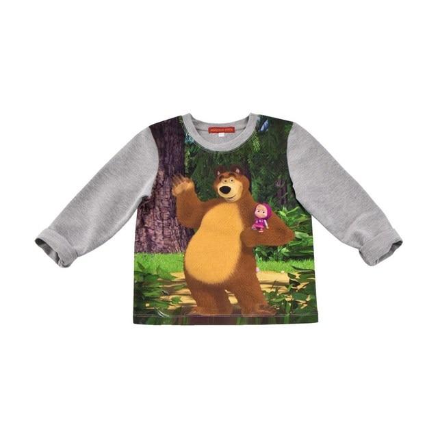 Masha and the Bear Рубашка длинный рукав серый меланж М