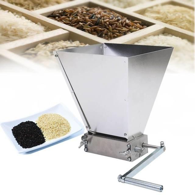 Stainless 2-roller Barley Malt Mill Grain Grinder Crusher