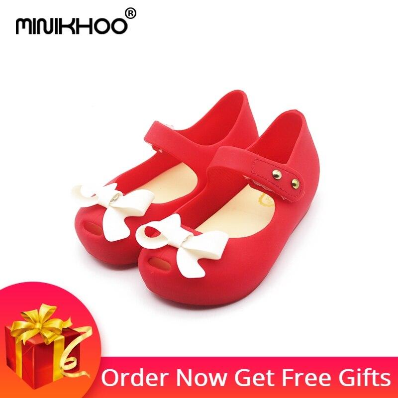 d583bb94 Mini Melissa 2018 łuk dzieci buty galaretki buty miękkie dziewczyny sandały  dolne dziewczyny Princess buty dziewczyny dziecko Melissa sandały dziewczęce