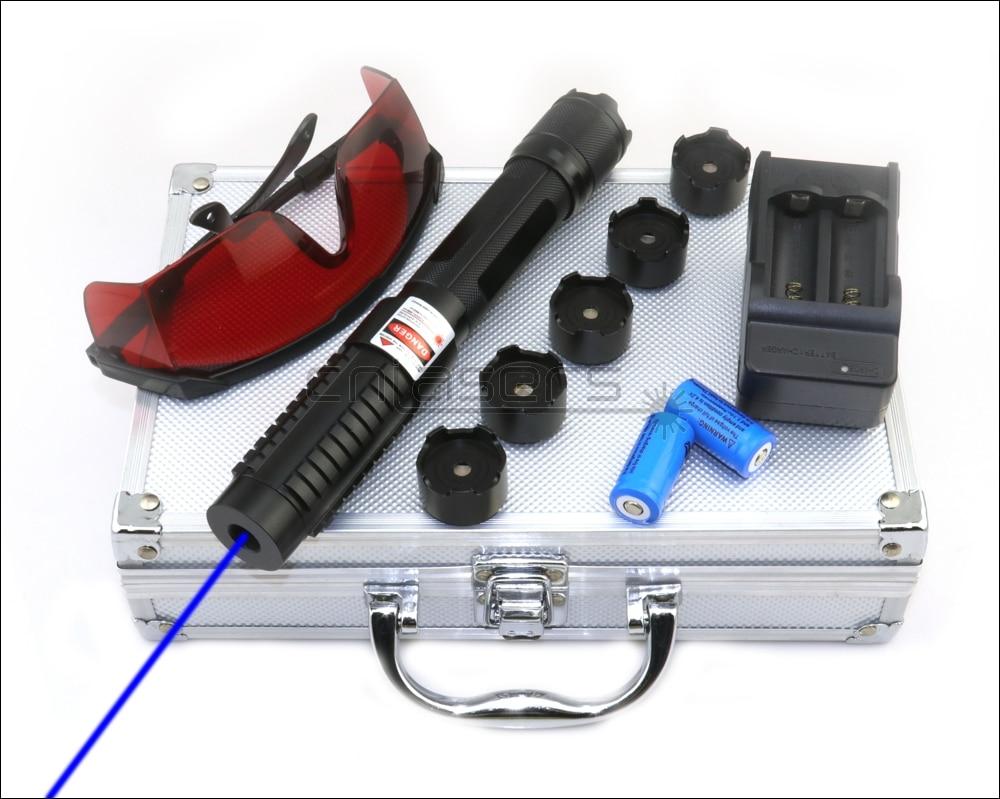 CNILasers BX6 Adjustable Focus 450nm BURNING Blue Laser Pointer Lazer Torch Pen Cigarette Lighter Camping Signal Lamp Hunting