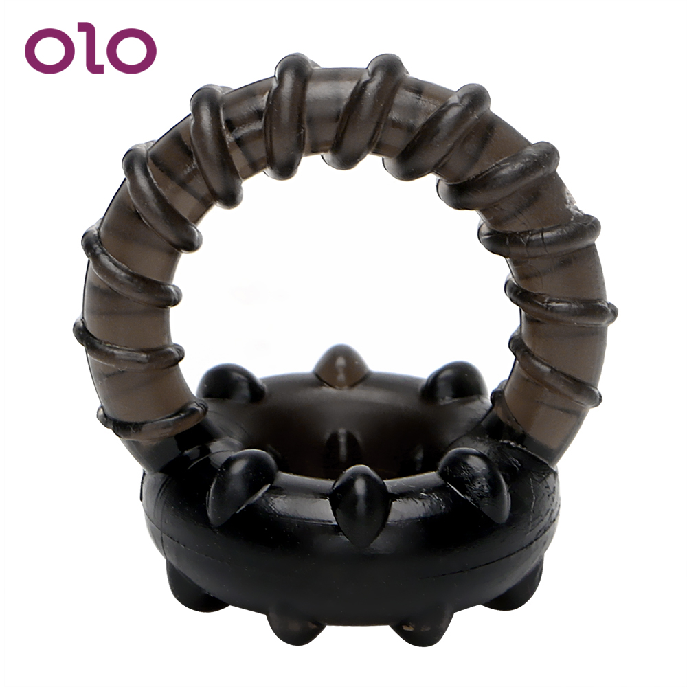 OLO Dual Penis Ring Enlargement Delay Ejaculation Cock Ring Male Erection Stretcher Sex Toys For Men