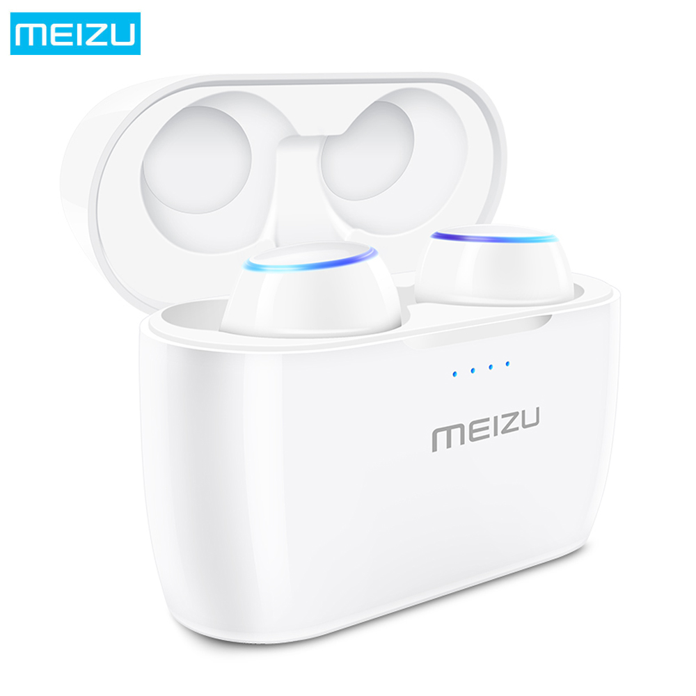 MEIZU POP TWS True Wireless Voice Control Bluetooth Earphones In-ear Earbuds with Microphone Waterproof Stereo Sport Earphone ruige x1 stylish in ear earphones w microphone cable control white 3 5mm plug 127cm