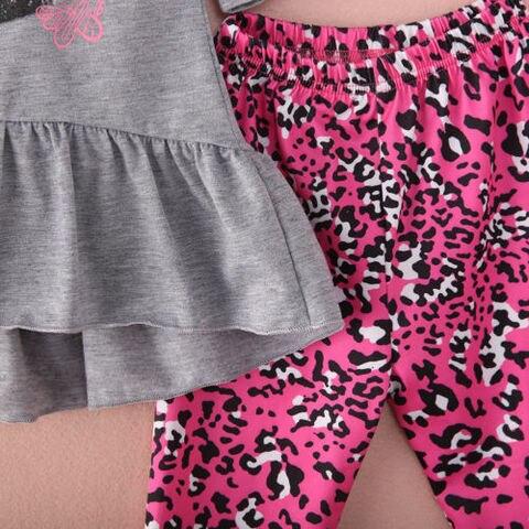 2PCS Toddler Kids Baby Girls Tops Dress Long Pants Leggings Outfits Clothes 2-7Y Multan