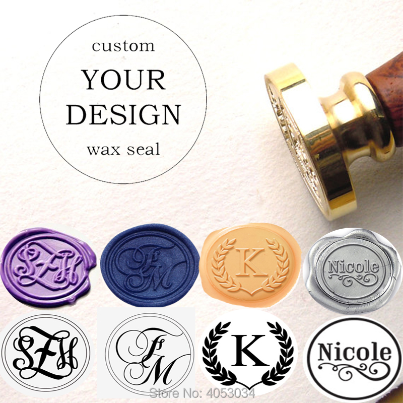 Personalized Two Initials Wax Seal Stamp ,Customize Double Monogra Wax Sealing Stamp Wedding Invitation 12 Font For Your Choice