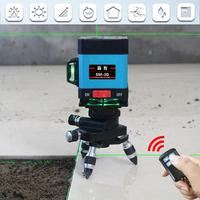 12 линии 3D зеленый свет прикрепляя Инструмент уровень 360 Высокая точность плоский блики пол уровня земли линии с дистанционное управление