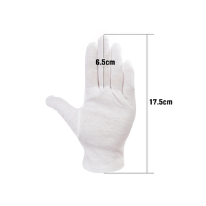 Image 2 - 12 Pairs/Lot White Soft Cotton Ceremonial Gloves Stretchable Lining Glove for Male Female Serving/Waiters/Drivers Gloves