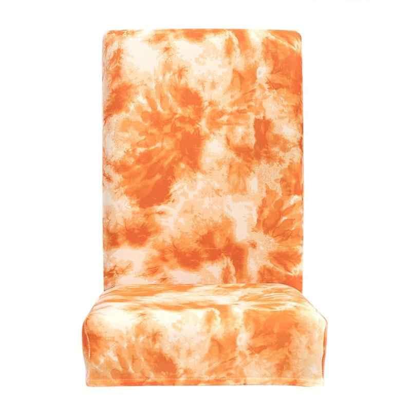 Защитный чехол Tie-dye ремесло Граффити Шаблон Обложка для ресторана отеля офиса Съемная упругое сиденье Slipcover оранжевый
