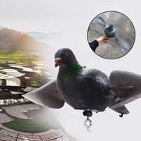 Flocked pigeon falso-caça tiro chamariz dissuasor repeller jardim gramado decoração ajuda a proteger as plantas olhar natural