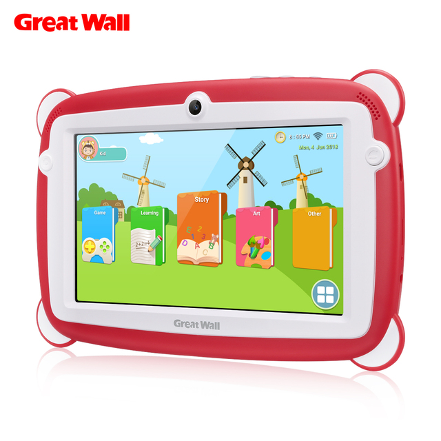 Great Wall K701 Kid Education Tablets PC 7'' 1024*600 IPS Android 8.1 IPS RK3126C Quad-core 1GB 8GB Dual Cam WIFI BT Tsblets