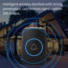 Doorbell Outdoor-Transmitter Digital Receiver Remote-Control-Door Black Wireless Modern