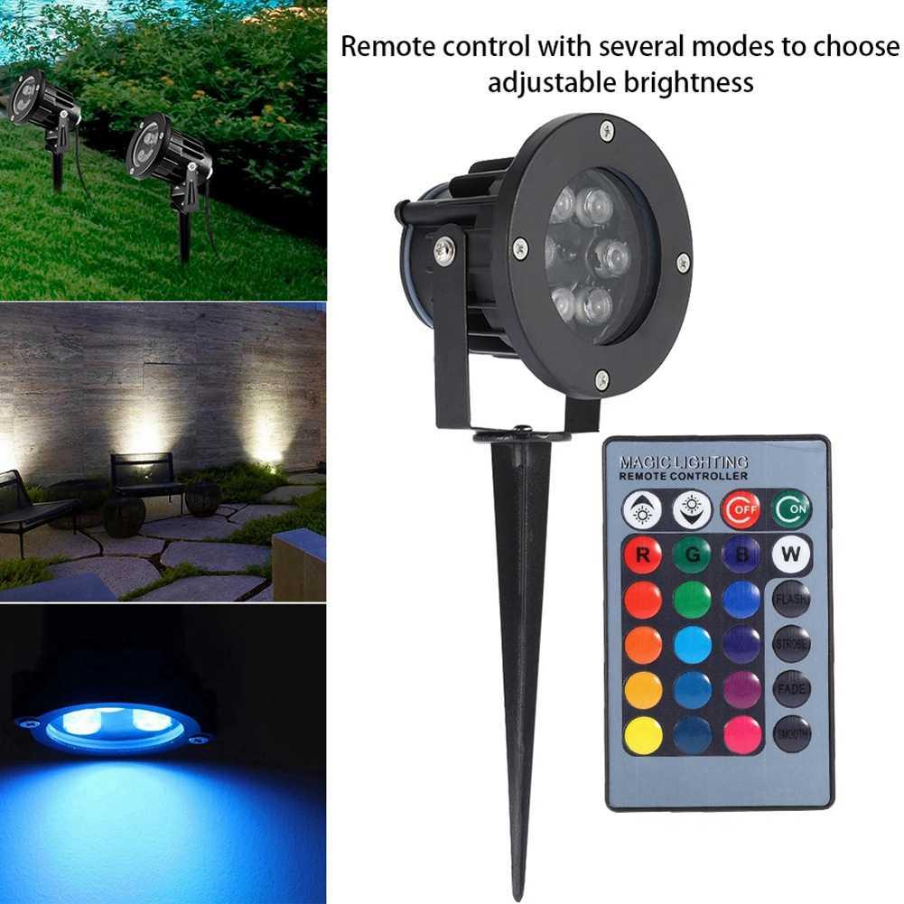 Tuinverlichting US Plug AC85-265V садовый свет 12 Вт Водонепроницаемый светодиодный садовый открытый RGB газон для домашнего сада