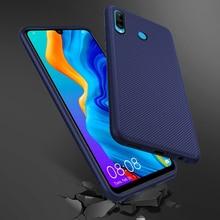 For Huawei P30 Lite Pro P20 Case Silicone Texture Anti-slip Soft TPU Cover P Smart 2019 Slim