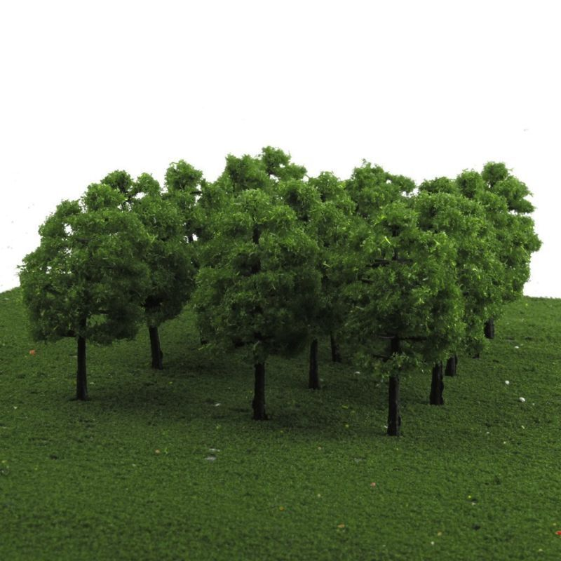 20pcs Mini Model Trees Fake Trees Train Railroad Scenery Architecture Artificial Tree 1:100 Dollhouse Landscape Simulation Tree