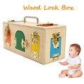 Kids Montessori Speelgoed 3 Jaar Lock Box Montessori Materiaal Zintuiglijke Educatief Houten Speelgoed Voor Kinderen Montessori Baby Speelgoed Nieuwe