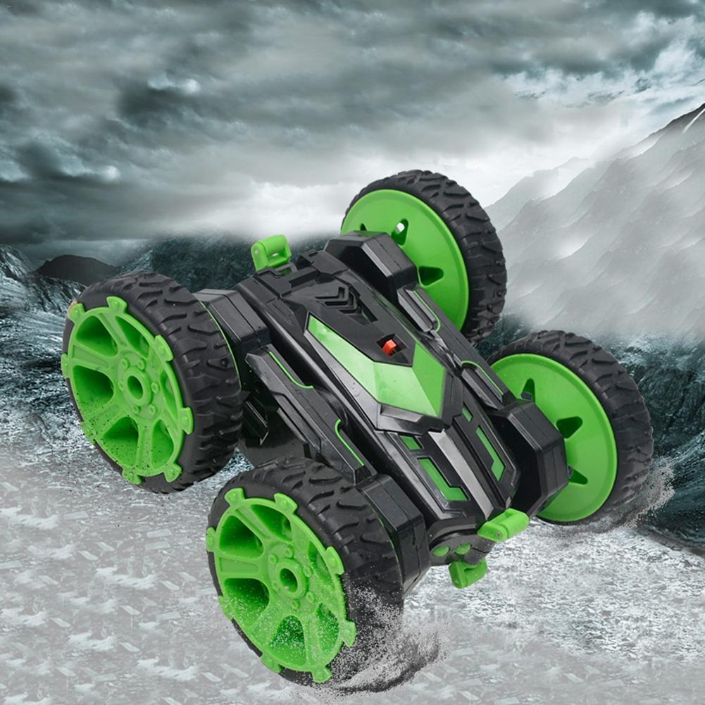 Voiture télécommandée sans fil modèle 2.4G jouet électrique Rechargeable Rotation de 360 degrés roulant voiture de cascade Double face pour enfants
