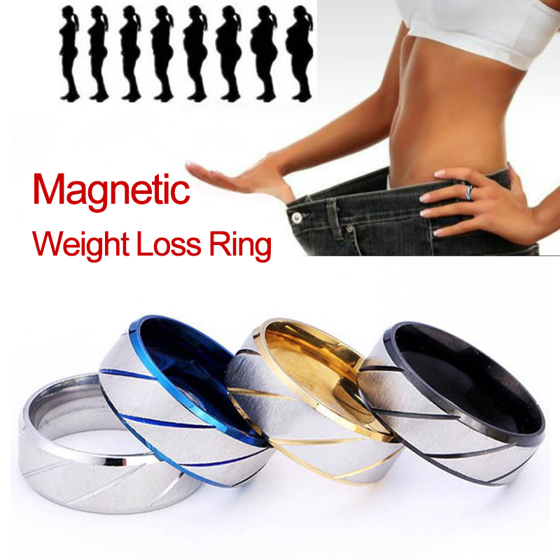 Fashion Magnetic Medical Anti Cellulite Ring Lose Weight Slimming Products Fitness Reduce Weight Ring Magnetic Health Jewelry
