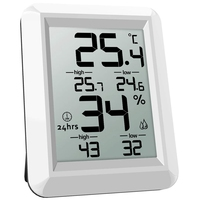 Temperature Humidity Monitor  Digital Thermometer  Thermometer Hygrometer Indoor  ℃/℉ Switch  Lcd Screen  Min/Max Records  For Temperature Gauges     -