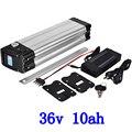 Литиевая батарея для электрического велосипеда  36 В  500 Вт  36 В  8 А  9 А  10 А  11 а  12 А  13 а  36 В  10 А  с зарядным устройством 2 А