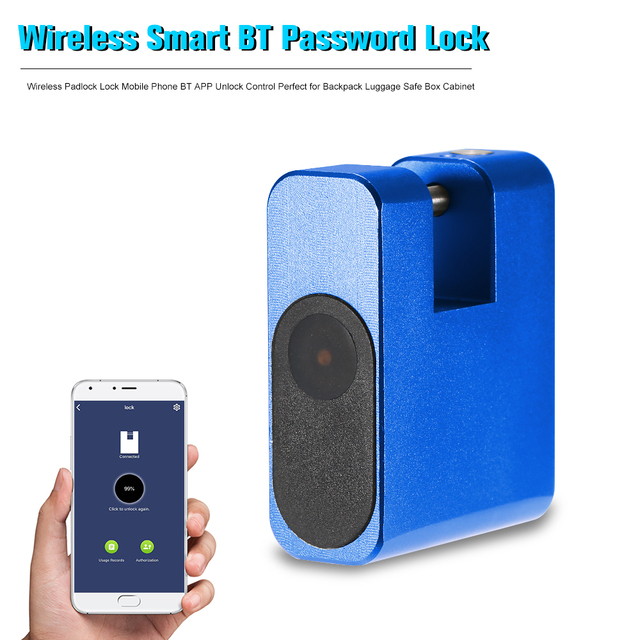 Smart Lock Keyless Anti theft Lock Wireless Padlock Lock Mobile Phone BT APP Unlock Control Perfect for Backpack Luggage Safe