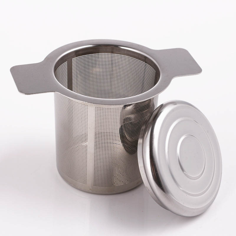 Coffee Filters Lid Stainless Steel Tea Strainer Reusable Tea Infuser Tea Accessories Fine Mesh