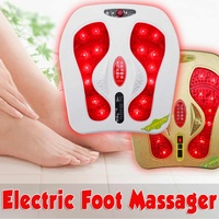 Electric Foot Massager 20W 220V Vibration Infrared Heating Magnetic therapy Spa Relax Magnetic US Plug Blood Circulation Adjust