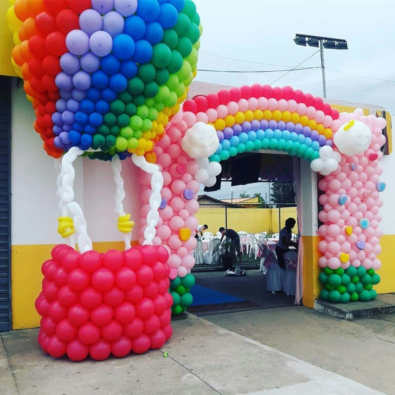 100pcs//lot 6 inch Link balloons Wedding Party Decorations tail ballon Home /& Gar
