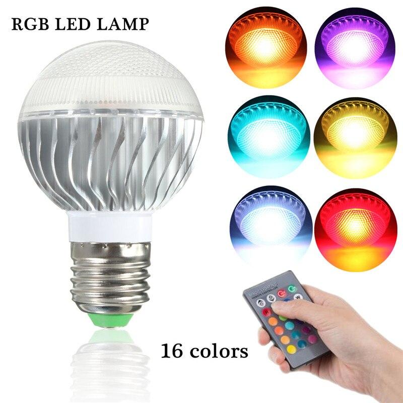 Smuxi RGB LED Lamp 9W E27 RGB LED Light Bulb 85V~265V Multiple Color Remote Control RGB Lampada Light Bulb