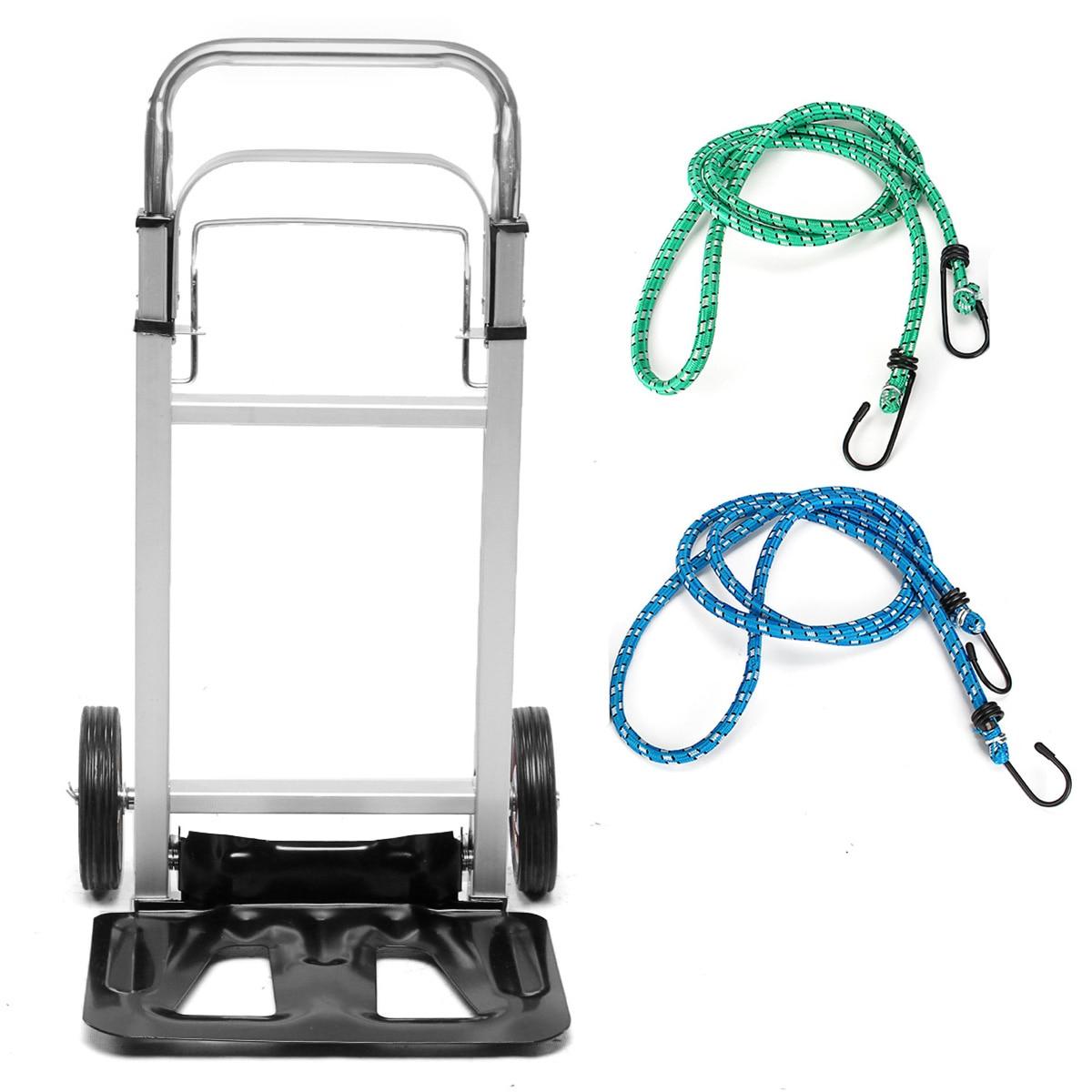 Chariot à bagages pliable en Aluminium chariot à main chariot à cargaison roues 90 kg chariot lourd chariot à provisions domestique